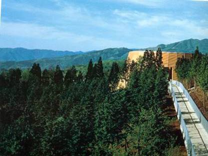Tadao Ando. Museum of Wood. Foresta di Mikata-gun