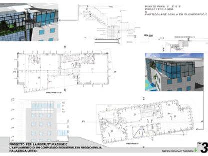 Finabe, Palazzina a uffici, Reggio Emilia