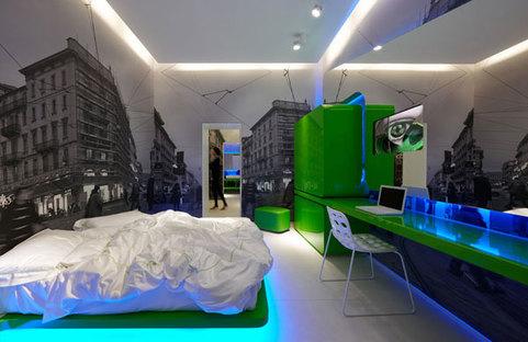 Prima suite, colore dominante il verde