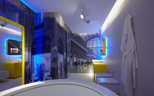 Il bagno della suite doppia con pavimenti e rivestimenti con trattamento ACTIVE Clean Air