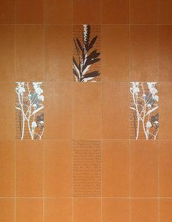 Rivestimento degli androni in Oltimer di Porcelaingres, varianti decorative