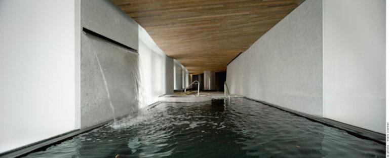 La Spa vista dalla vasca idromassaggio