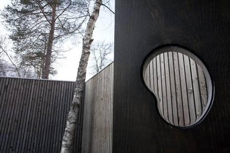 Dettaglio delle pareti delle residenze