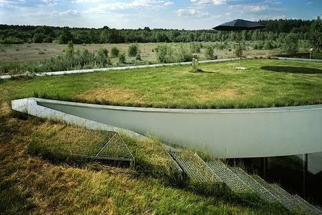 Il giardino sul tetto con vista aperta sulla campagna
