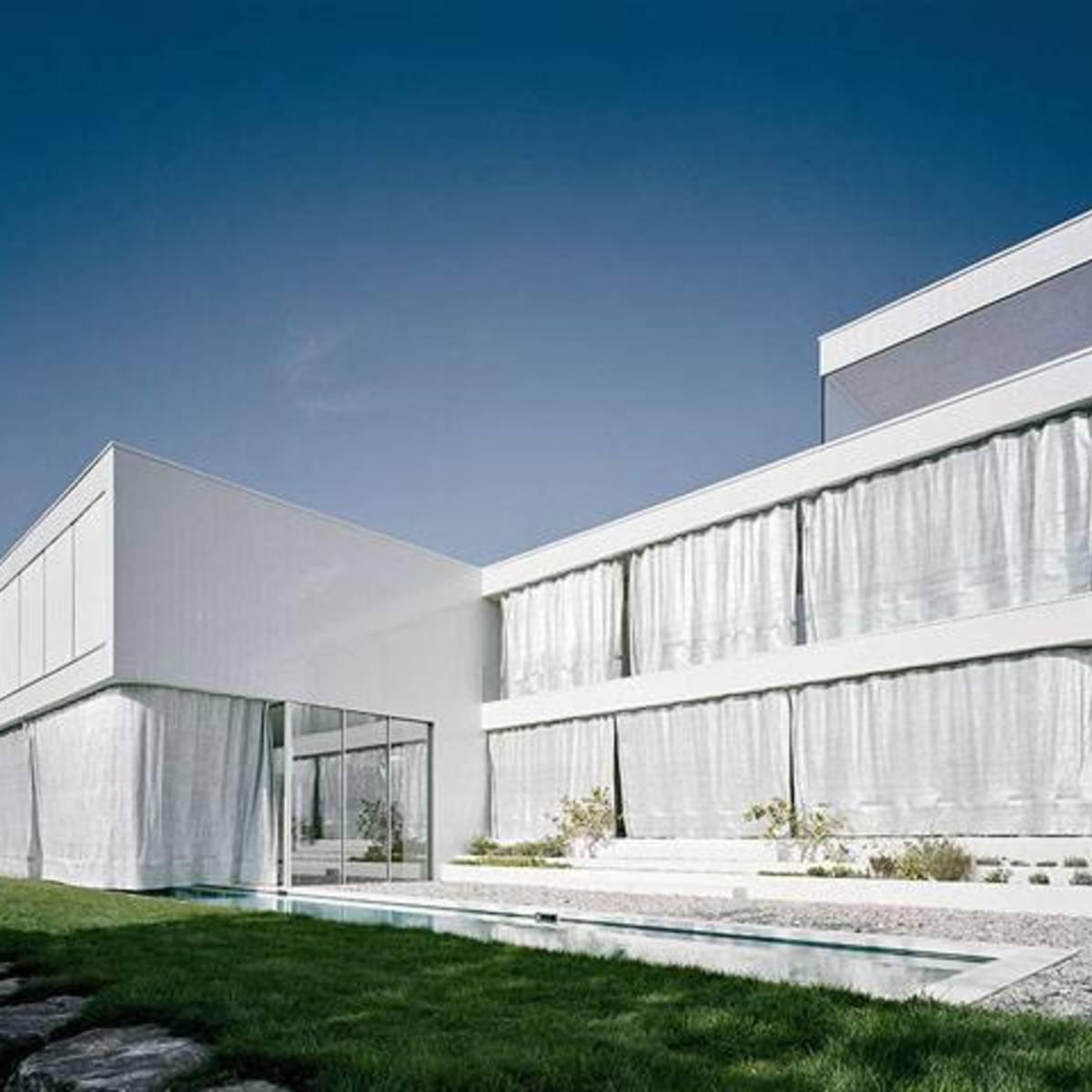 C18 architekten casa e atelier a waldstetten floornature for Tende frama