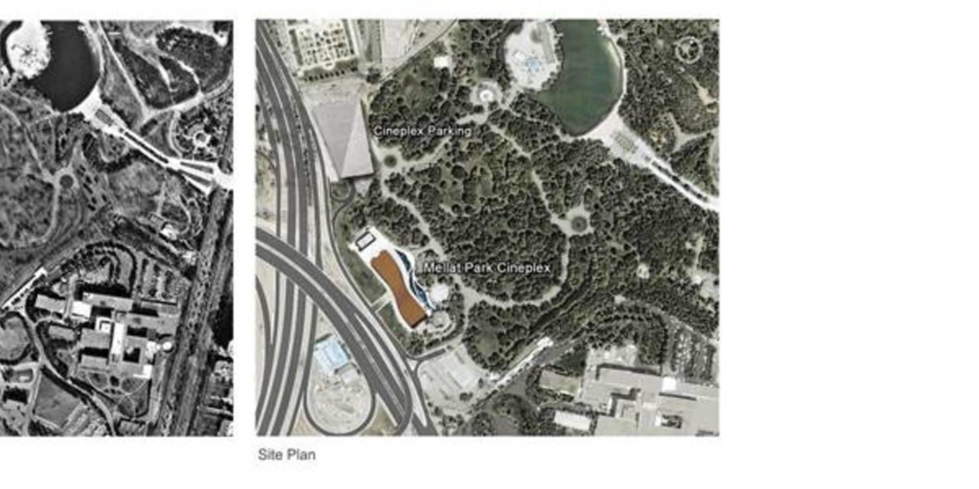 Planimetria dell'area prima e dopo la realizzazione