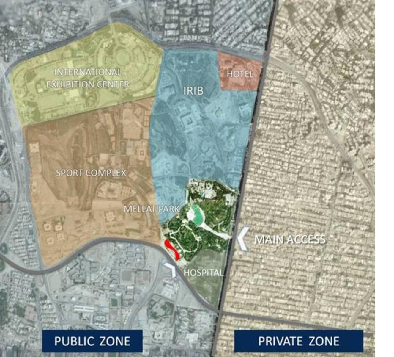 Planimetria dell'area e dei quartieri circostanti