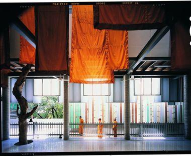 Un museo del tempio buddhista in Thailandia