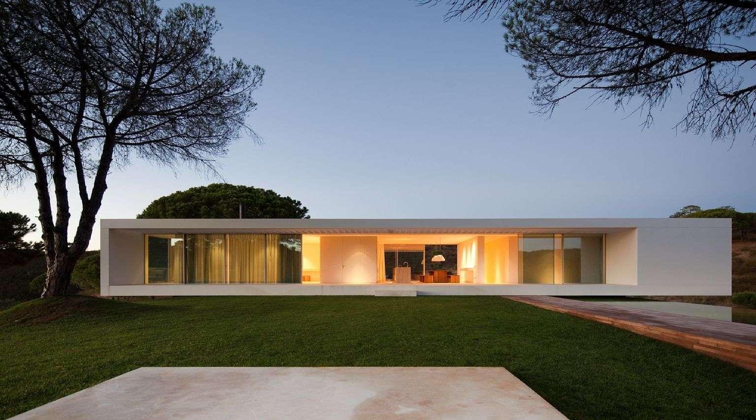 Pedro reis casa a melides floornature for Casa minimalista con alberca