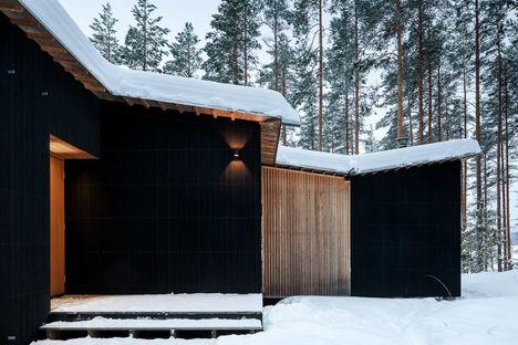 Kettukallio, una casa sul lago in Finlandia
