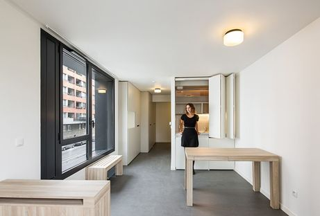 Chartier Dalix: Housing compatto e sostenibile asilo a Parigi