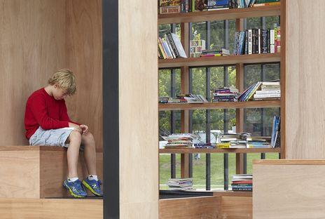 The Story Pod di AKB, una libreria pubblica nel parco