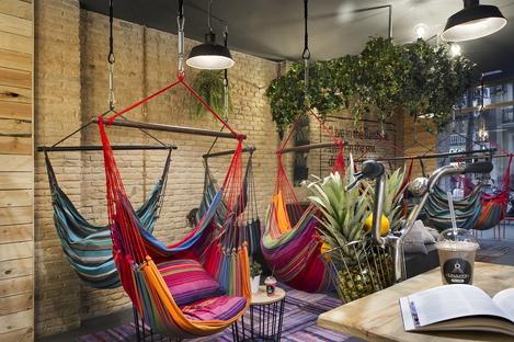 Hammock Juice Station, relax vegano progettato da Egue y Seta