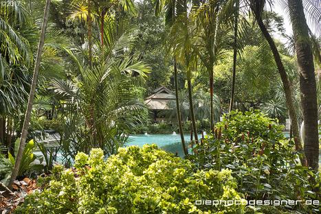 Il giardino incantato di Nai Lert Park a Bangkok