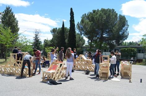 enormestudio con gli studenti del Lycee Français de Madrid