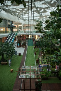 Future Forest con zip-line di Bompas & Parr a Londra