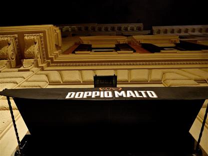 Doppio Malto disegnato da Visual Display a Roma