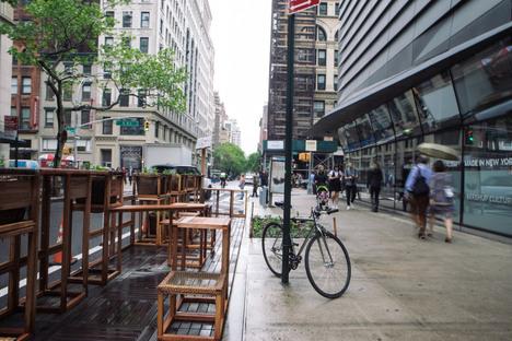 Street Seats, spazio pop-up sostenibile a New York