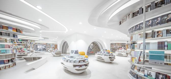 Wutopia Lab realizza una libreria tutta bianca a Xi'an in Cina