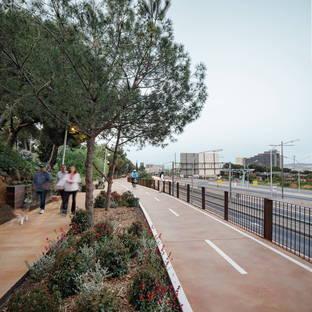 Una pista ciclabile di Batlle i Roig a Barcellona
