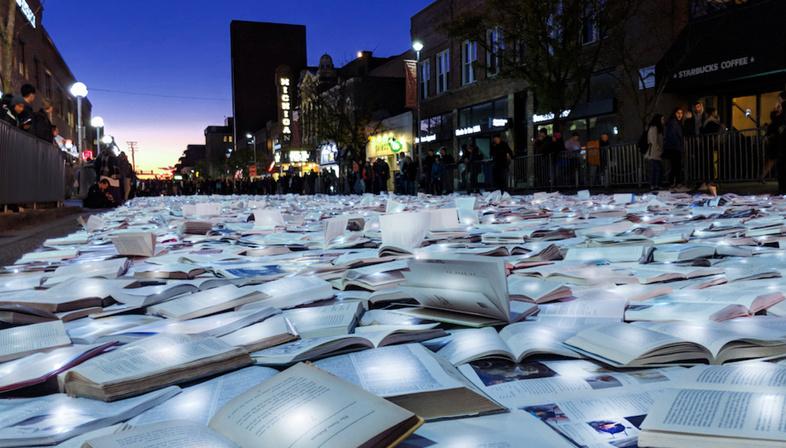 LuzInterruptus, Literature vs Traffic ad Ann Arbor