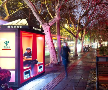 Orange Phone Booths di 100architects a Shanghai
