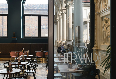 Caffè Fernanda di rgastudio, una sinfonia di colori alla Pinacoteca di Brera