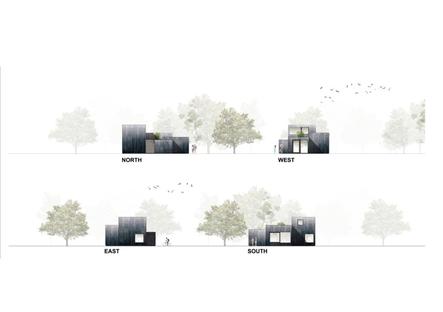 Una piccola casa sostenibile nel verde di i29 e Chris Collaris
