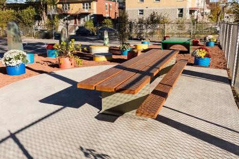 Taktik Design ha ridisegnato il cortile della scuola Sainte-Anne