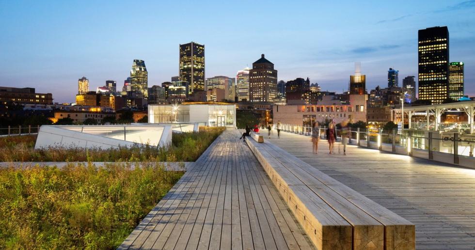 Grand Quay a Montreal, ricollegarsi all'acqua