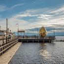 Solar Egg sul lago Siljan, in Svezia