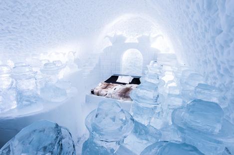 Il Solar Egg di Riksbyggen all'Icehotel di Jukkasjärvi