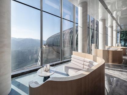 InterContinental Chongqing Raffles City di Moshe Safdie con interior di CL3