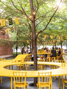 ADHOC architectes, installazione Your Place at the Table, Montreal