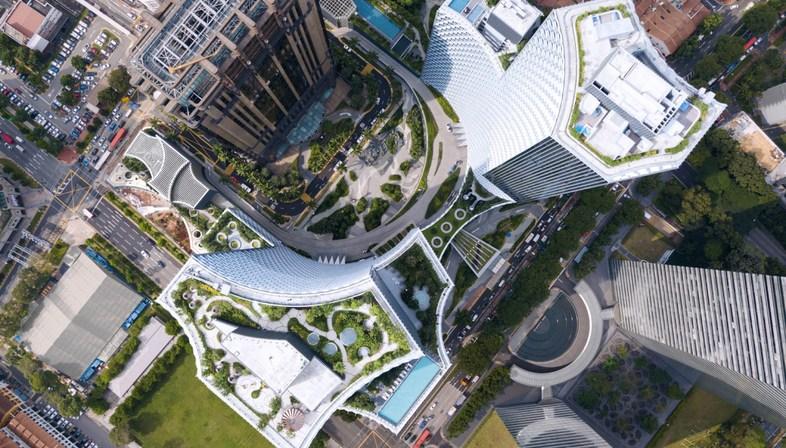 DUO a Singapore, torre sostenibile premiata dal CTBUH di Büro Ole Scheeren