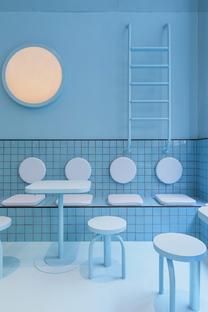 Masquespacio disegna Bun Torino: colori allegri per un interior accattivante