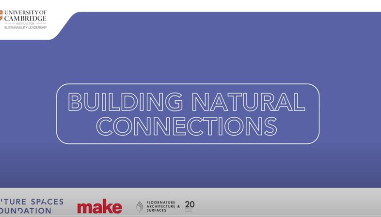 I webinar Building Natural Connections