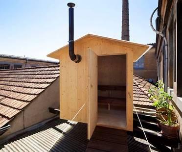 Una sauna sui tetti a Ginevra. Bureau A.