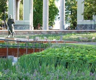 Landscaping nel centro di Oslo: Schandorff Square, Østengen & Bergo AS