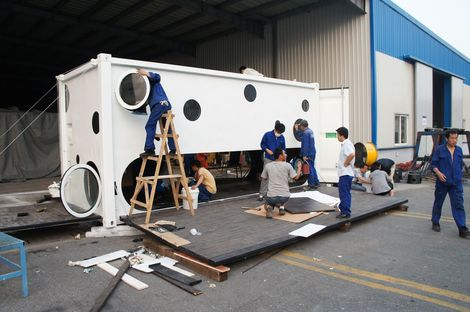 Container creativo: Jike Idea Shipping Container Innovation Building.