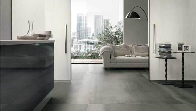 Piastrelle grandi formati effetto metallo pavimenti interni floornature - Piastrelle effetto metallo ...