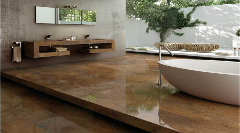 Piastrelle grandi formati effetto metallo pavimenti interni for Piastrelle grandi formati