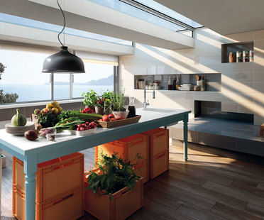 Pavimenti e rivestimenti in gres per un nuovo ambiente cucina