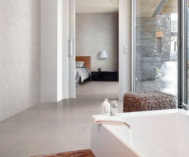 Il bagno ideale con le superfici in gres porcellanato