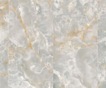 Ultra Ariostea: grandi piastrelle in gres effetto onice e metallo