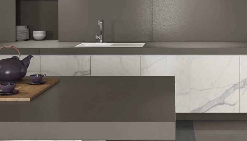 Tradizione e modernita; delle piastrelle fmg effetto marmo floornature