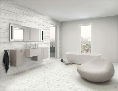 Il bagno contemporaneo con superfici in gres porcellanato Stonepeak