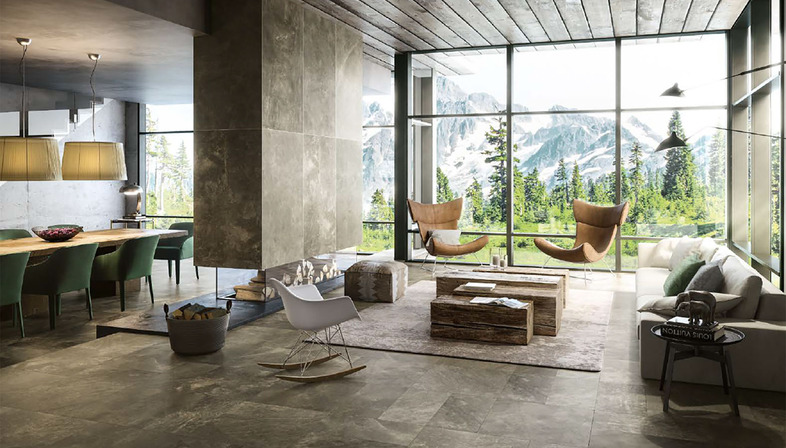 Urban living design: City e Mile_Stone di Porcelaingres