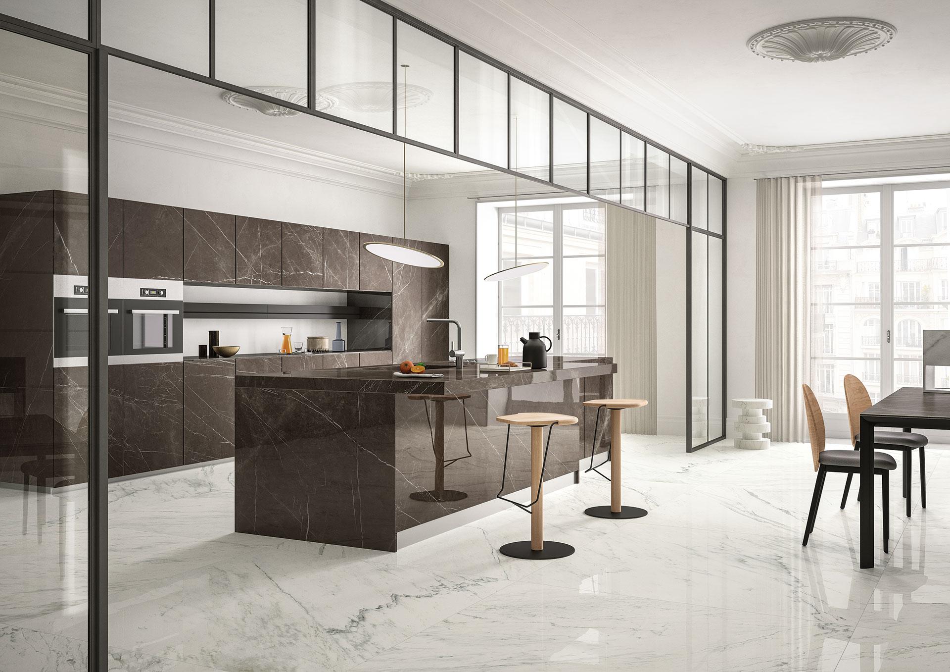 Sapienstone il miglior piano lavoro e top cucina in gres porcellanato floornature - Top cucina in ceramica ...
