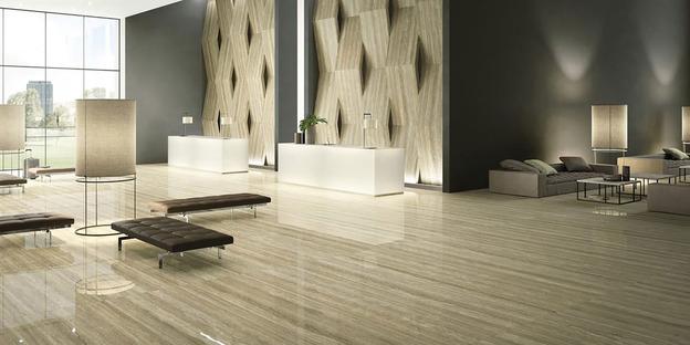 Pavimenti effetto marmo e in grande formato Maximum GranitiFiandre